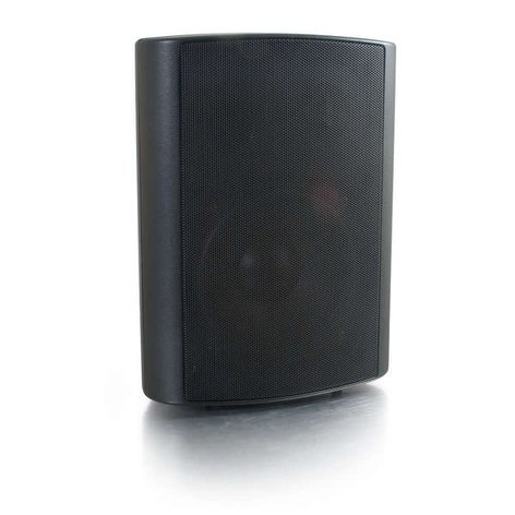 "Cables To Go Classroom Speaker 5"" Wall Mount Speaker, Black 39905"