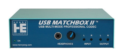 Henry Engineering USB-MATCHBOX-II USB Matchbox USB to XLR Digital Interface USB-MATCHBOX-II