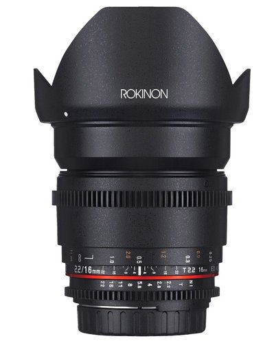 Rokinon 16mm T2.2 High Speed Wide Angle Cine DS Lens DS16M