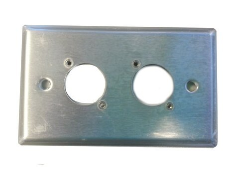 Switchcraft WP1S2P 1 Gang 2 E/EH Connector Hole Wallplate in Stainless Steel WP1S2P