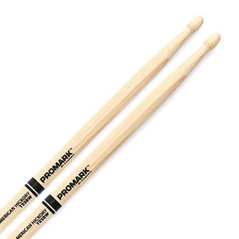 Pro-Mark TX5BW Hickory 5B Wood Tip Drum Sticks (PAIR) TX5BW
