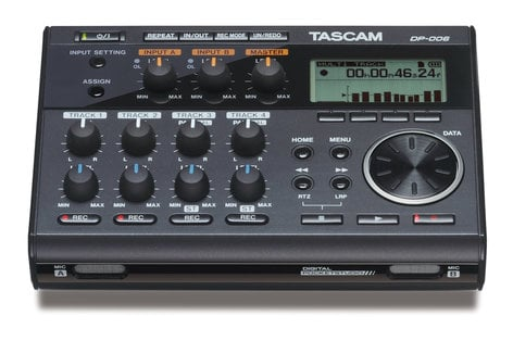 Tascam DP-006 6-Track Digital Pocketstudio Recorder DP-006