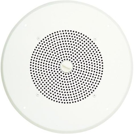 Bogen Communications S86T725PG8UBRVR  Ceiling Speaker with Bright White Grill and Volume Control S86T725PG8UBRVR