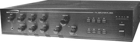 Speco Technologies PL260A 7 Zone Commercial Amplifier, 260W 8/4 Ohm & 70V PL260A