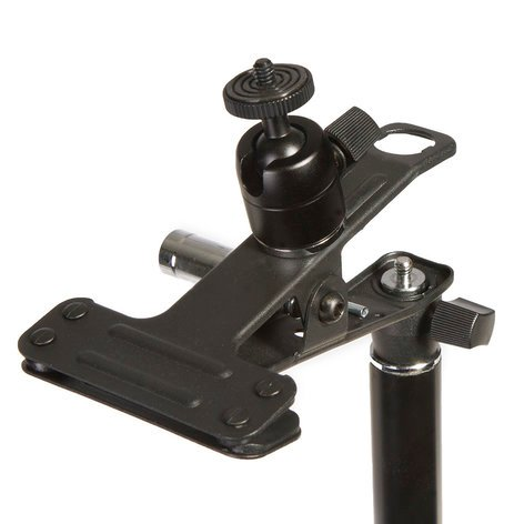 ikan Corporation EI-A07 E-Image Spring Clamp with EI-A05 Ball Head Stand Adapter EI-A07