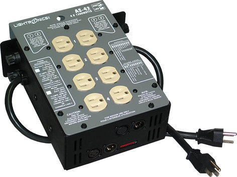 Lightronics Inc. AS-42D-ST  4 Channel 1200W/ch DMX512 Dimmer with Stage Pin Output AS-42D-ST
