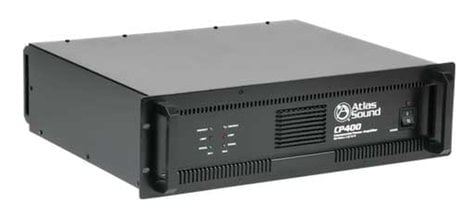 Atlas Sound CP400 Power Amplifier with 200W/Ch @ 70.7V, 240W/Ch @ 4 ohms Stereo CP400-ATLAS