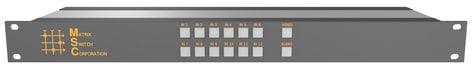 Matrix Switch Corporation MSC-HD121DEL  12 Input 1 Output 3G-SDI Video Router With Button Panel and AES Audio MSC-HD121DEL