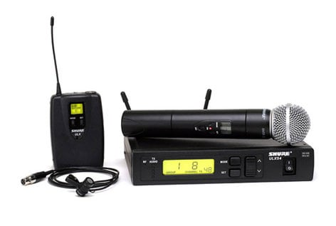 Shure ULXS124/85-G3 Combo System with SM58, WL185 Lav Mic ULXS124/85-G3
