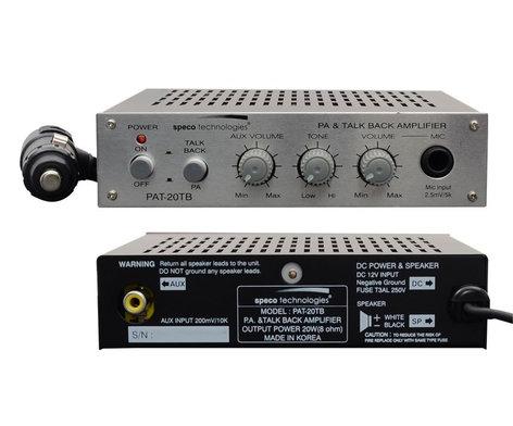 Speco Technologies PAT20TB 20 Watt amplifier/Talkback PAT20TB