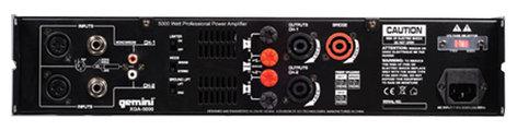 Gemini XGA-5000 5000W Power Amplifier XGA-5000