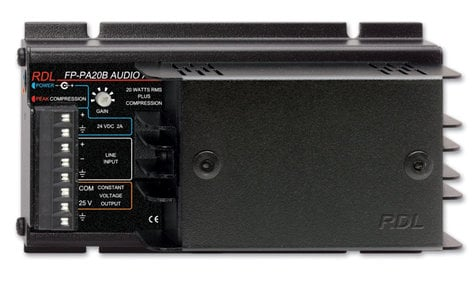 RDL FP-PA20B 20W Power Amplifier with 25V Output FP-PA20B