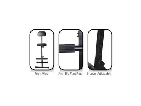 Odyssey DJ Chair Adjustable DJ Chair in Black DJCHAIR