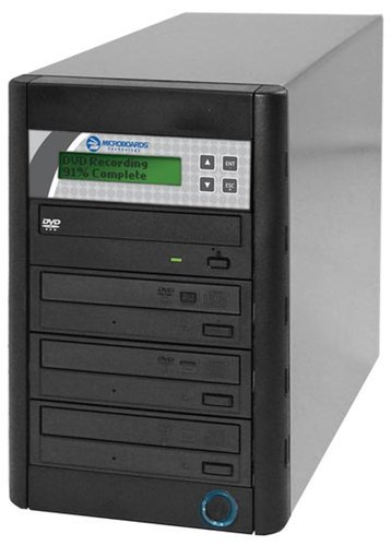 Microboards QD-DVD-H123 3-Bay DVD Duplicator with 250 GB Hard Drive QD-DVD-H123