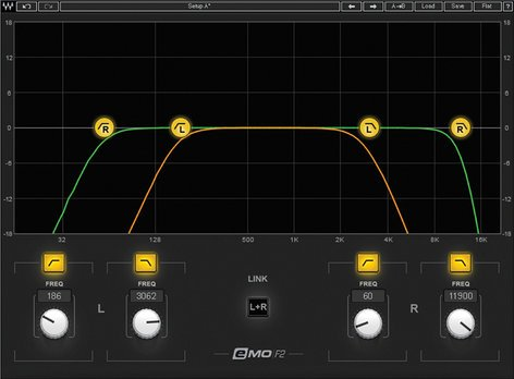 Waves eMo F2 Filter [DOWNLOAD] High-Pass/Low-Pass Filter EMOF2SG