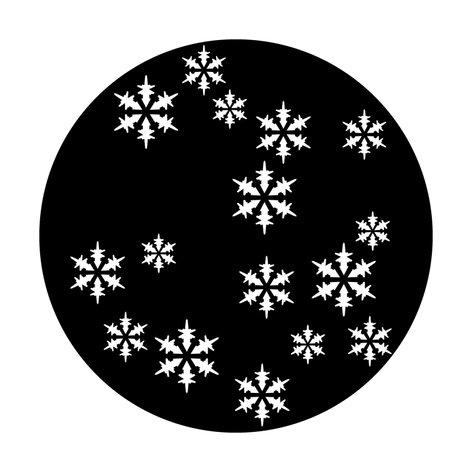 Apollo Design Technology ME-3241  Snowflake Fall Steel Gobo ME-3241