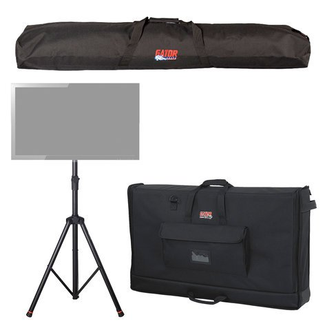Gator Cases GFW-AV-LCD2-PACK Package with a Deluxe Tripod LCD/LED Stand, a Speaker Stand Bag, and a Large Padded LCD Transport Bag GFW-AV-LCD2-PACK