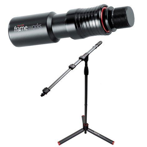 Gator GFW-ID-MIC-KIT GFW-ID-MIC Microphone Stand with GFW-MIC-QRTOP Quick Release Attachment GFW-ID-MIC-KIT