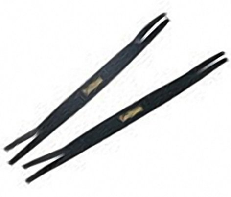 Sabian 61002 Pair of Leather Cymbal Straps in Black/ Gold 61002