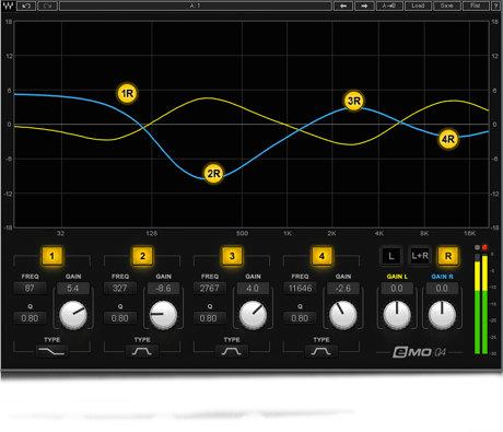 Waves eMo Q4 Equalizer 4-Band Paragraphic Equalizer Plugin EMOQ4SG