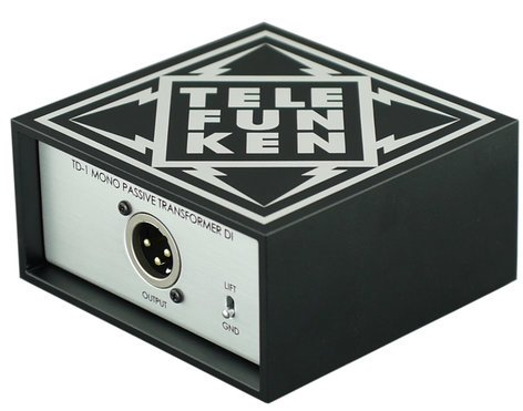 Telefunken Elektroakustik TD-1 Mono Passive DI Box TD-1-TELEFUNKEN