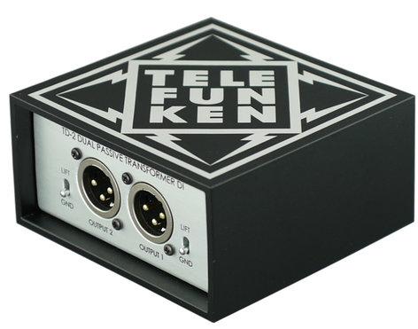 Telefunken Elektroakustik TD-2 Dual Passive DI Box TD-2-TELEFUNKEN