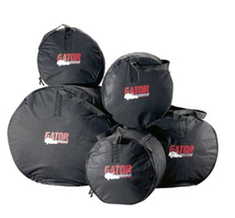 Gator Cases GP-FUSION-100 Fusion Padded Drum Bag Set: 18x22, 9x10, 10x12, 12x14, 5.5x14 GP-FUSION-100