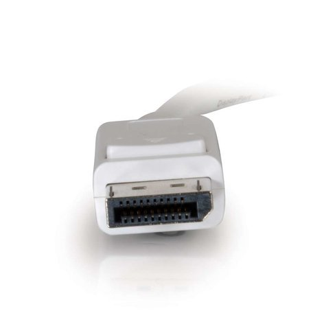 Cables To Go Mini DisplayPort to DisplayPort 6 ft Adapter Cable in White 54298
