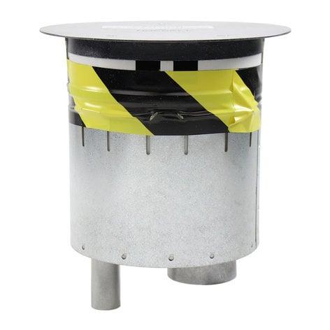 "FSR, Inc SmartFit 6 6"" Poke-Thru Floor Box with Brushed Aluminum Cover SF6-CPT-DD-ALM"