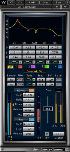 Waves Renaissance Channel [DOWNLOAD] EQ, Compression, Gating and Limiting Plugin RCHTDM
