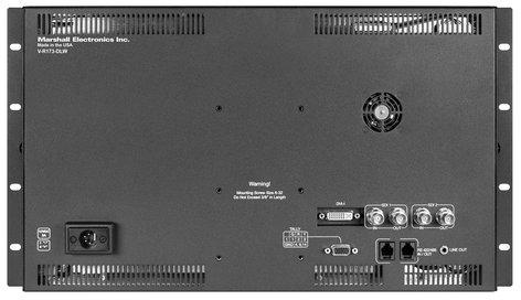 "Marshall Electronics V-R173-DLW-DT  17"" Native HD Resolution IMD LCD Rack Mount Monitor  V-R173-DLW-DT"