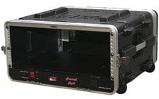 Gator Cases GRR-4PL-US 4 RU Powered Lockable Rack Case (with Wheels) GRR4PLUS