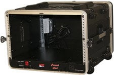 Gator Cases GRR6PLUS 6 RU Powered Lockable Rack Case (with Wheels) GRR6PLUS