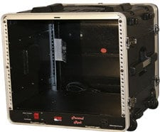 Gator Cases GRR-8PL-US 8 RU Powered Lockable Rack Case (with Wheels) GRR8PLUS