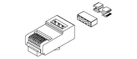 Belden CAPFCU-B25  25-Pack of Field Crimped RJ45 Modular Connectors CAPFCU-B25