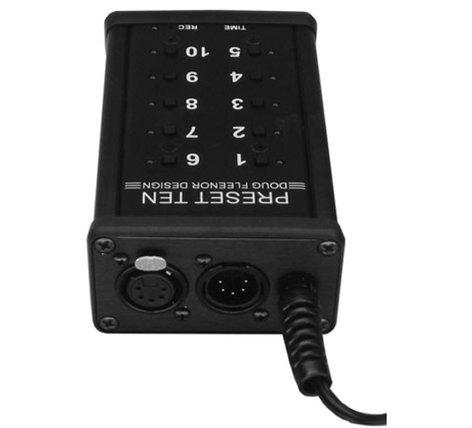 Doug Fleenor Designs PRE10-P-POPO Portable DMX512 Console, Push On/Push Off PRE10-P-POPO