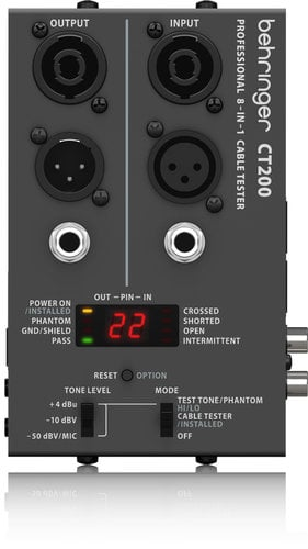 Behringer CT200 Microprocessor-Controlled 8-in-1 Cable Tester CT200-BEHRINGER