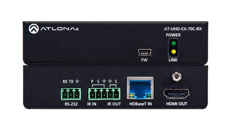 Atlona Technologies AT-UHD-EX-70C-RX  4K/UHD HDMI Over HDBaseT Receiver  AT-UHD-EX-70C-RX