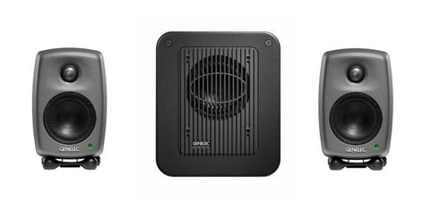 Genelec 8010.LSE Two 8010s and One 7040 Subwoofer, Producer Black Finish 8010.LSE