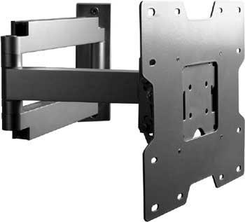 "Peerless SA740P  Articulating Wall Arm for 22"" - 37"" LCD Screens, VESA 75/100/100x200/200x200, Black (silver shown) SA740P"