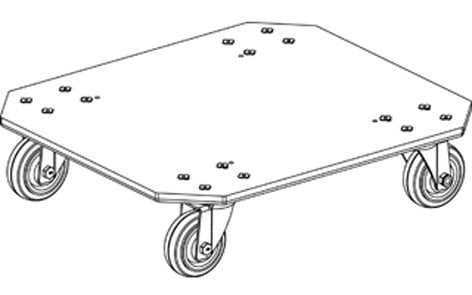 """Grundorf Corp M4-LC  4"""" Large Caster Dolly Plate M4-LC"""
