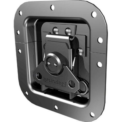 Grundorf Corp 34-010  Replacement Medium Recessed Metal Catch, Black 34-010
