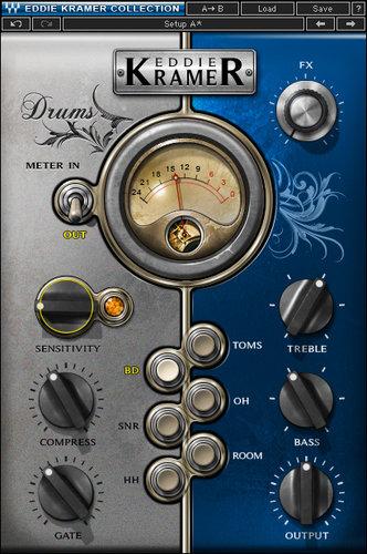Waves Eddie Kramer Drum Channel [DOWNLOAD] Drum Effects Plugin EKDRSG