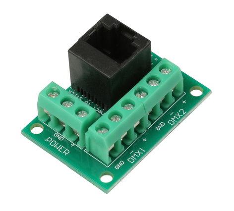 Blizzard Lighting RJ2BLOCK-RJ45  Power+DMX Connector Block Converter RJ2BLOCK-RJ45
