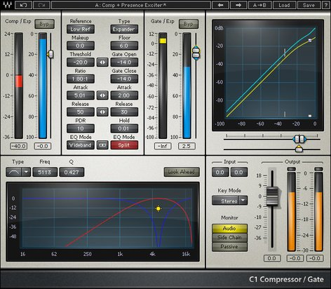 Waves C1 Compressor [DOWNLOAD] Compressor Plugin V5-C1D40