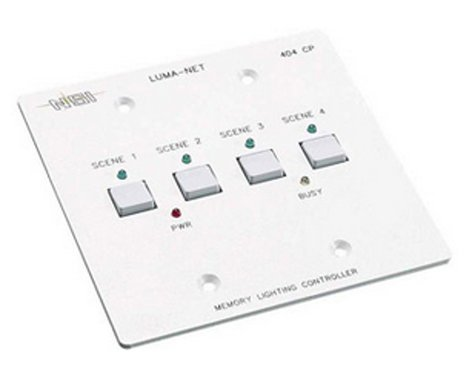 Leviton N0404-CP0 Remote Memory Control Panel with 4 Programmable Scenes, Controls 100 Dimmer Channels N0404-CP0