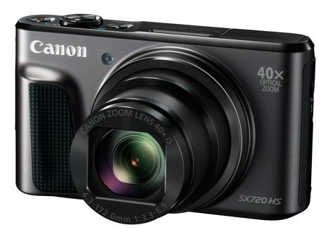 Canon PowerShot SX720 HS 20.3MP Compact Digital Camera with 40x Optical Zoom in Black POWERSHOT-SX720HS-KT