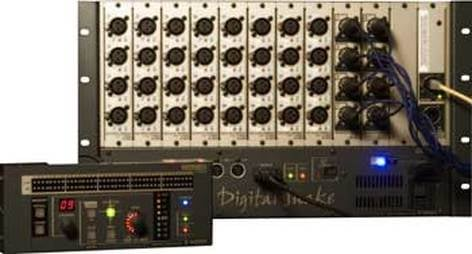 Roland S4000S-3208 Digital Snake, 32 x 8 Modular Stage Unit (Shown with S4000R Remote Control, Not Included) S4000S-3208