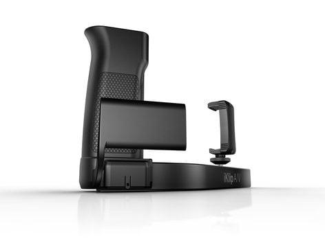 IK Multimedia iKlip A/V Smartphone Grip with Integrated Mic Preamp  IKLIP-AV