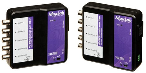 TecNec MUX-500734 6G-SDI Extender Over LC Multimode Simplex Fiber with Return Channel MUX-500734